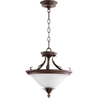 Quorum 2972-13-39 Flora 2 Light 13 inch Vintage Copper Dual Mount Ceiling Light