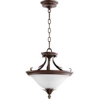 Quorum 2972-13-39 Flora 2 Light 13 inch Vintage Copper Dual Mount Ceiling Light
