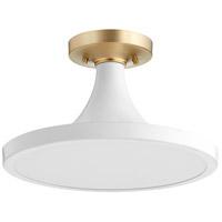 Quorum 3001-15-8 Bugle 1 Light 15 inch Studio White Flush Mount Ceiling Light
