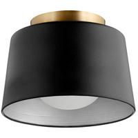 Quorum 3003-11-69 Trapeze 1 Light 11 inch Noir Flush Mount Ceiling Light
