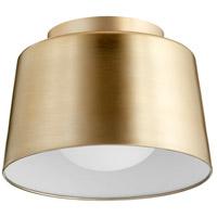 Quorum 3003-11-80 Trapeze 1 Light 11 inch Aged Brass Flush Mount Ceiling Light