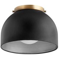 Quorum 3004-11-69 Dome 1 Light Noir Flush Mount Ceiling Light