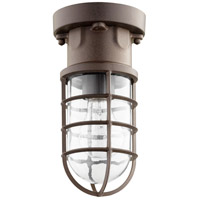 Belfour 1 Light 5 inch Oiled Bronze Semi Flush Mount Ceiling Light