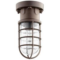 Quorum 301-86 Belfour 1 Light 5 inch Oiled Bronze Semi Flush Mount Ceiling Light