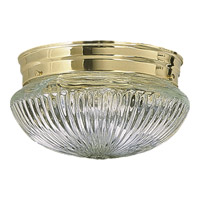 Quorum International Signature 1 Light Flush Mount in Polished Brass 3012-6-2