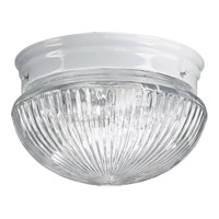Quorum 3012-6-6 Signature 1 Light 8 inch White Flush Mount Ceiling Light