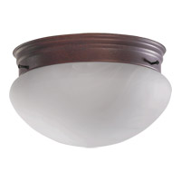 Quorum International Signature 2 Light Flush Mount in Cobblestone 3021-8-33