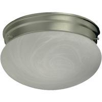 Quorum 3021-8-65 Signature 2 Light 10 inch Satin Nickel Flush Mount Ceiling Light