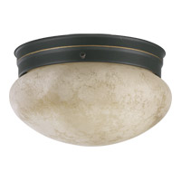 Signature 1 Light 8 inch Old World Flush Mount Ceiling Light