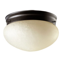 Quorum 3027-8-86 Signature 2 Light 10 inch Oiled Bronze Flush Mount Ceiling Light