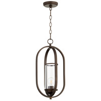 Quorum 3044-86 Collins 1 Light 10 inch Oiled Bronze Pendant Ceiling Light