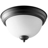 Quorum 3063-11-69 Signature 2 Light 12 inch Noir Flush Mount Ceiling Light Quorum Home