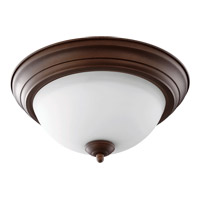 Quorum 3063-13-86 Signature 2 Light 14 inch Oiled Bronze Flush Mount Ceiling Light