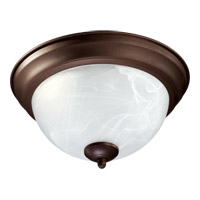 Quorum 3066-11-86 Signature 2 Light 12 inch Oiled Bronze Flush Mount Ceiling Light