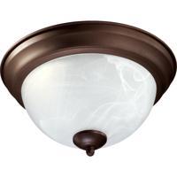 Quorum 3066-11-86 Signature 2 Light 12 inch Oiled Bronze Flush Mount Ceiling Light