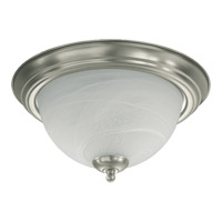 Quorum 3066-13-65 Signature 2 Light 14 inch Satin Nickel Flush Mount Ceiling Light