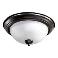 Quorum 3066-13-95 Signature 2 Light 14 inch Old World Flush Mount Ceiling Light