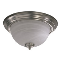 Quorum 3066-15-65 Signature 3 Light 16 inch Satin Nickel Flush Mount Ceiling Light
