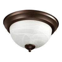Quorum 3066-15-86 Signature 3 Light 16 inch Oiled Bronze Flush Mount Ceiling Light