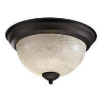 Quorum 3067-11-86 Signature 2 Light 11 inch Oiled Bronze Flush Mount Ceiling Light