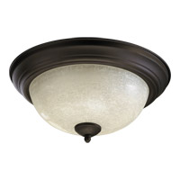 Quorum 3067-13-86 Signature 2 Light 14 inch Oiled Bronze Flush Mount Ceiling Light