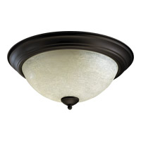 Quorum 3067-15-86 Signature 3 Light 16 inch Oiled Bronze Flush Mount Ceiling Light