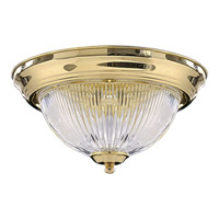 Quorum International Signature 2 Light Flush Mount in Polished Brass 3070-11-2