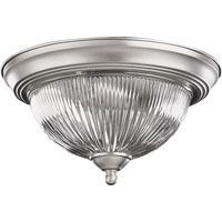 Quorum 3070-11-65 Signature 2 Light 12 inch Satin Nickel Flush Mount Ceiling Light