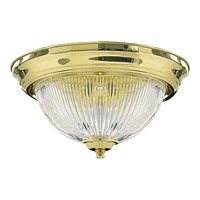 Quorum International Signature 2 Light Flush Mount in Polished Brass 3070-13-2