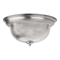 Quorum 3070-15-65 Signature 3 Light 15 inch Satin Nickel Flush Mount Ceiling Light