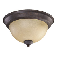 Quorum 3073-11-44 Signature 2 Light 11 inch Toasted Sienna Flush Mount Ceiling Light