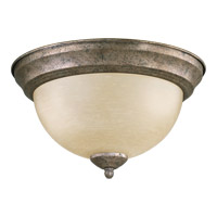 Signature 2 Light 11 inch Mystic Silver Flush Mount Ceiling Light