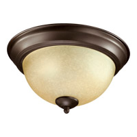 Quorum 3073-11-86 Signature 2 Light 11 inch Oiled Bronze Flush Mount Ceiling Light