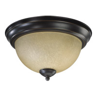 Quorum 3073-11-95 Signature 2 Light 11 inch Old World Flush Mount Ceiling Light