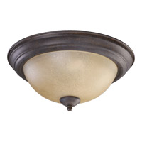 Quorum 3073-13-44 Signature 2 Light 14 inch Toasted Sienna Flush Mount Ceiling Light