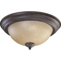 Quorum 3073-13-44 Signature 2 Light 14 inch Toasted Sienna Flush Mount Ceiling Light
