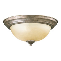 Quorum 3073-13-58 Signature 2 Light 14 inch Mystic Silver Flush Mount Ceiling Light