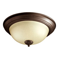 Signature 2 Light 14 inch Oiled Bronze Flush Mount Ceiling Light