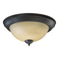 Quorum 3073-13-95 Signature 2 Light 14 inch Old World Flush Mount Ceiling Light