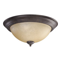 Quorum 3073-15-44 Signature 3 Light 16 inch Toasted Sienna Flush Mount Ceiling Light
