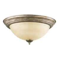 Quorum 3073-15-58 Signature 3 Light 16 inch Mystic Silver Flush Mount Ceiling Light