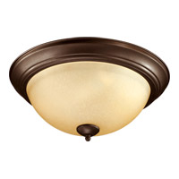 Signature 3 Light 16 inch Oiled Bronze Flush Mount Ceiling Light