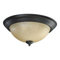 Quorum 3073-15-95 Signature 3 Light 16 inch Old World Flush Mount Ceiling Light