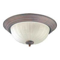 Quorum International Signature 3 Light Flush Mount in Cobblestone 3074-15-33