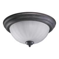 Quorum 3074-15-44 Signature 3 Light 16 inch Toasted Sienna Flush Mount Ceiling Light