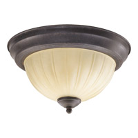 Quorum 3077-11-44 Signature 2 Light 12 inch Toasted Sienna Flush Mount Ceiling Light