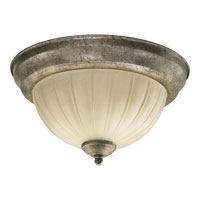 Quorum Signature 2 Light Ceiling Mount in Mystic Silver 3077-11-58