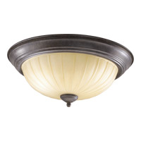 Quorum 3077-15-44 Signature 3 Light 15 inch Toasted Sienna Flush Mount Ceiling Light