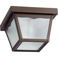 Quorum 3080-7-86 Signature 1 Light 8 inch Oiled Bronze Ceiling Lantern Ceiling Light