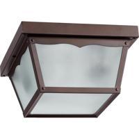 Quorum International Signature 2 Light Outdoor Ceiling Light in Oiled Bronze 3080-9-86
